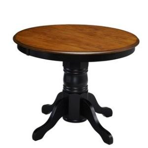 Offer for The Gray Barn Hillock Corner Traditional Countryside Dining Table (Black)