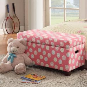 Offer for HomePop Deluxe Pink Storage Bench (Pink)