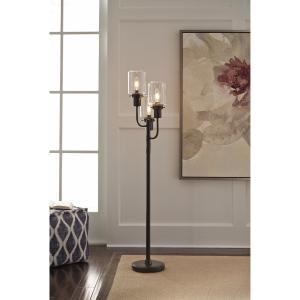 Offer for Signature Design by Ashley Jaak Bronze Finish Metal Floor Lamp (Metal Floor Lamp)