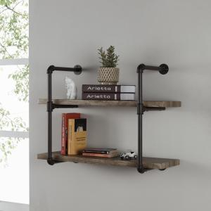 Offer for Danya B. Two-tier Industrial Pipe Wall Shelf (Danya B. Three Tier Industrial Pipe Wall Shelf)