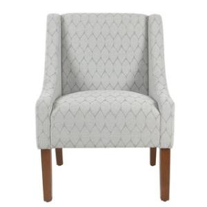 Offer for HomePop Modern Swoop Accent Chair (Grey)