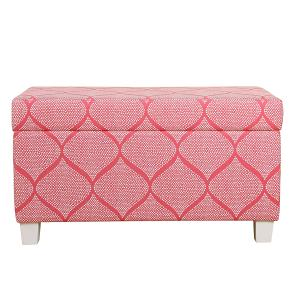 Offer for HomePop Kids' Storage Bench - Strawberry (Pink)